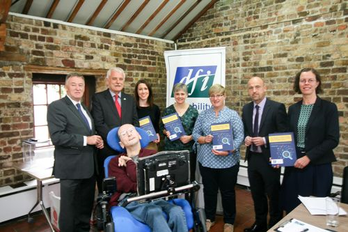 Group picture at the launch of the Nursing home report