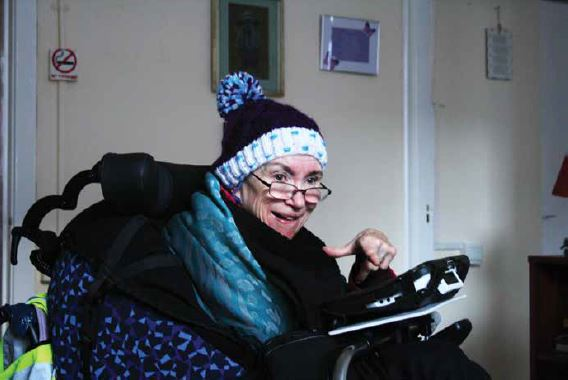 Mairéad Manton using Assistive technology