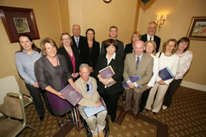 NAI members and contributing authors with the Minister for Health and Children Mary Harney at the launch of the NAI report