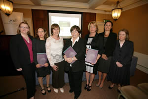 Members of the Editorial Committee with the Minister for Health and Children at the Launch of the NAI report