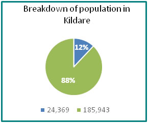 Breakdown of population in Kildare - all info in previous table
