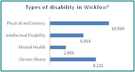 Types of disability in Wicklow - all info in previous table