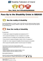 DFI's General Election Manifesto - See, Hear, Act #disabilityGE2020